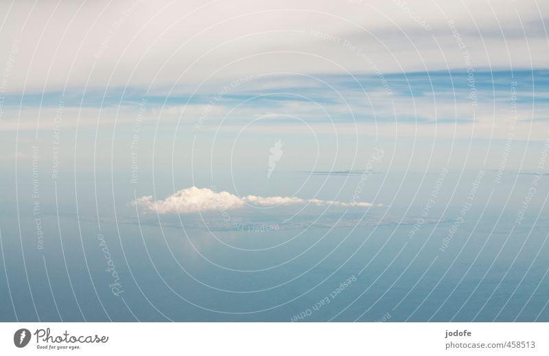 Über den Wolken Himmel Natur blau schön Wasser Meer Einsamkeit ruhig Landschaft Strand Ferne Umwelt Küste Freiheit Glück