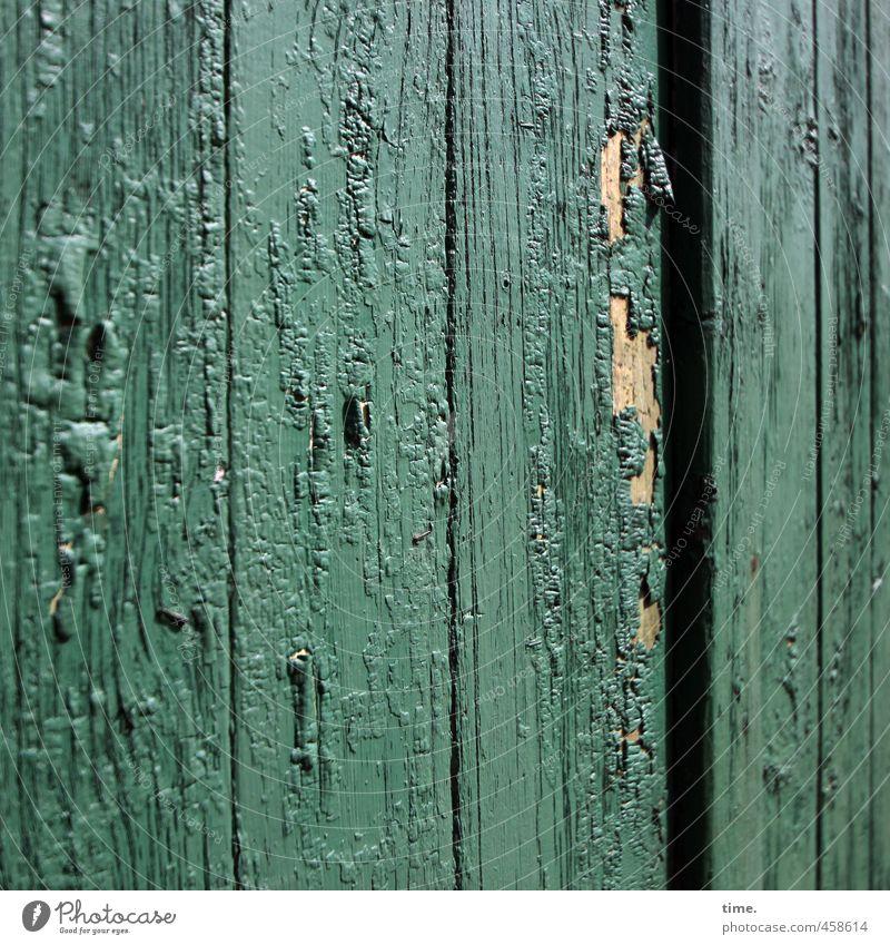 Lack muss Stall Bauernhof Tür Tor lackiert Riss Holz Kunststoff eckig einfach historisch kaputt trashig trocken Wahrheit Ordnungsliebe Traurigkeit Sorge Trauer