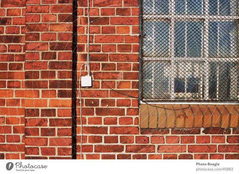 Ziegel 3-4 Wand Stein Mauer Hintergrundbild Backstein