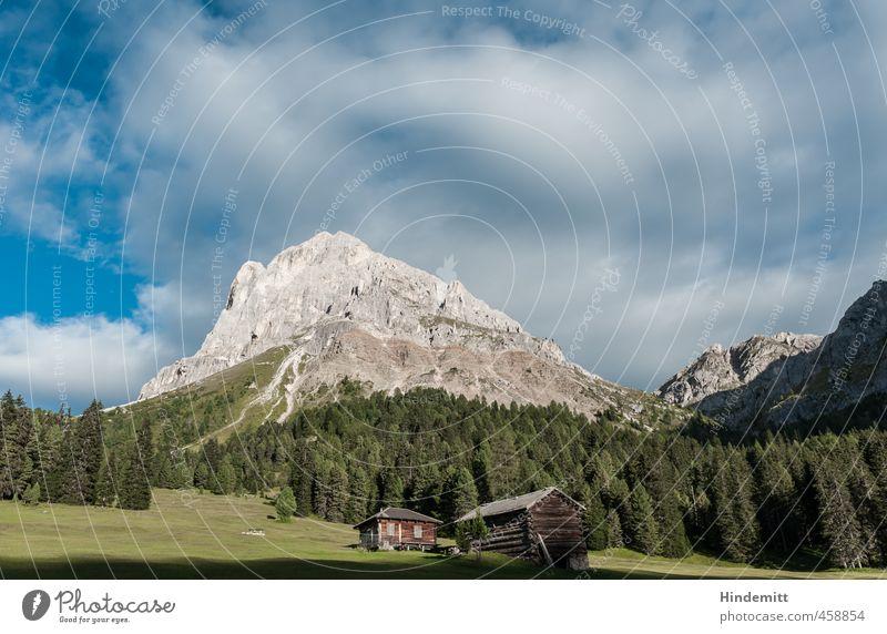 Untermieter | Unterunteruntermieter Himmel Natur Ferien & Urlaub & Reisen blau grün weiß Sommer ruhig Wolken Wald Umwelt Berge u. Gebirge Wiese klein Glück Felsen