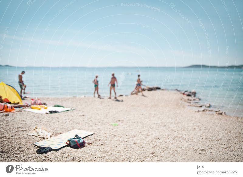 beach days Ferien & Urlaub & Reisen Sommer Sommerurlaub Sonnenbad Strand Meer Mensch maskulin feminin 4 Landschaft Himmel frei Freundlichkeit weich Lebensfreude