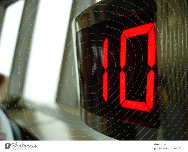 Zehn oder gehn modern Glas leer Ziffern & Zahlen Digitalfotografie 10 Anzeige Elektronik Ostalgie Diode