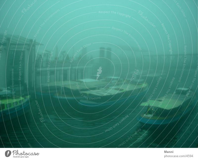 Hafen Wasser Wasserfahrzeug Nebel