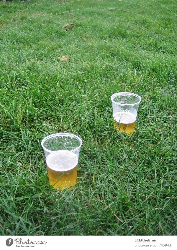 Bier auf Wiese Mann Natur schön Freude Gefühle Glück Feste & Feiern Zusammensein paarweise Gastronomie Flüssigkeit Wohlgefühl Alkohol Jugendkultur