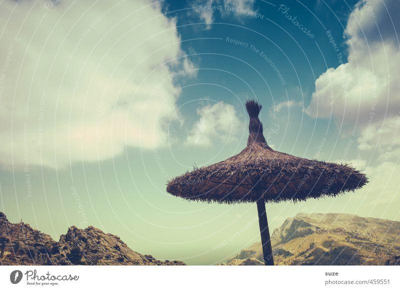 Der Hut, der keiner war Ferien & Urlaub & Reisen Umwelt Natur Landschaft Erde Himmel Wolken Sommer Wärme Berge u. Gebirge Gipfel Küste Bucht Meer Einsamkeit