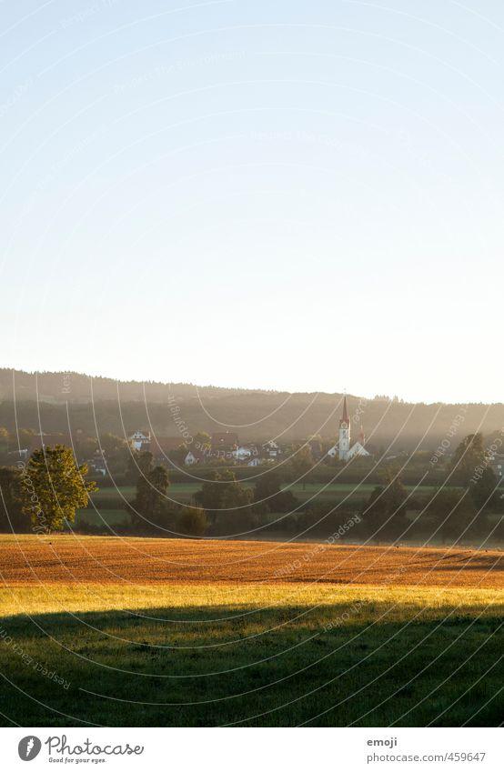 Sonnenstrahlen Himmel Natur Landschaft Umwelt natürlich Feld Dorf Wolkenloser Himmel nachhaltig