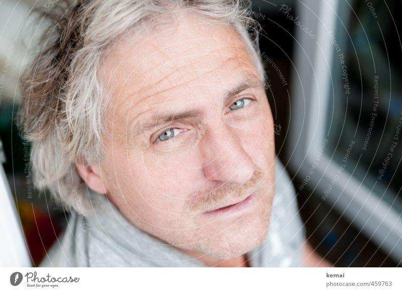 Frageblick Mensch Mann schön Gesicht Erwachsene Auge Leben Traurigkeit Gefühle Haare & Frisuren Kopf hell maskulin offen Lifestyle 45-60 Jahre