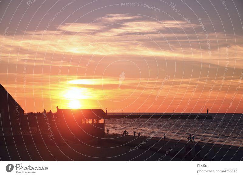 Leba Ferien & Urlaub & Reisen Tourismus Ferne Freiheit Sommer Sommerurlaub Sonne Strand Meer Natur Landschaft Wasser Himmel Sonnenaufgang Sonnenuntergang