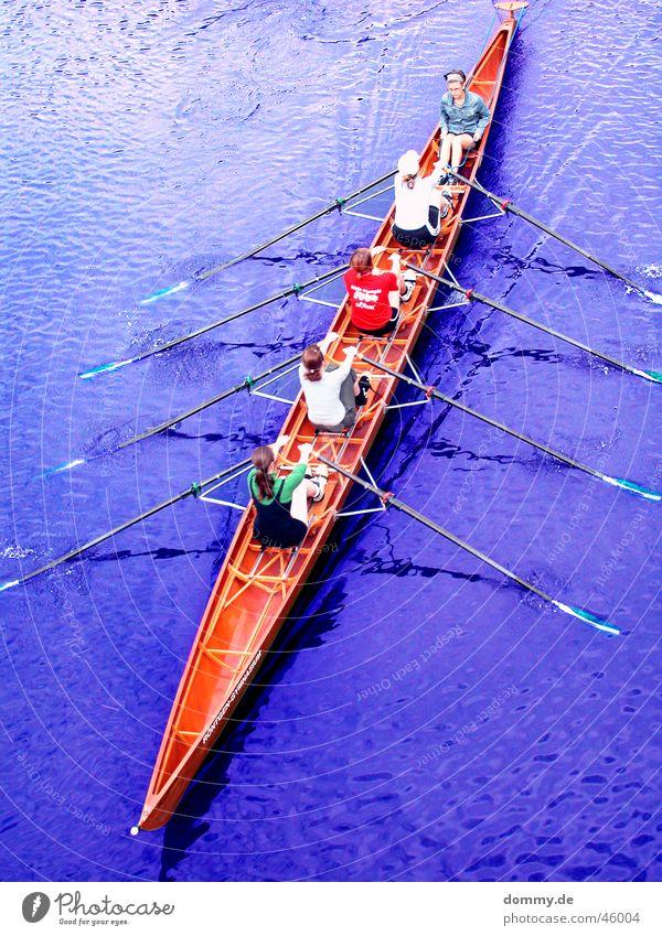 Ruderverein Frau Wasser blau rot Sport Holz Wasserfahrzeug T-Shirt Spitze 5 Main Ruderboot Paddel Gymnasium Würzburg Baseballmütze
