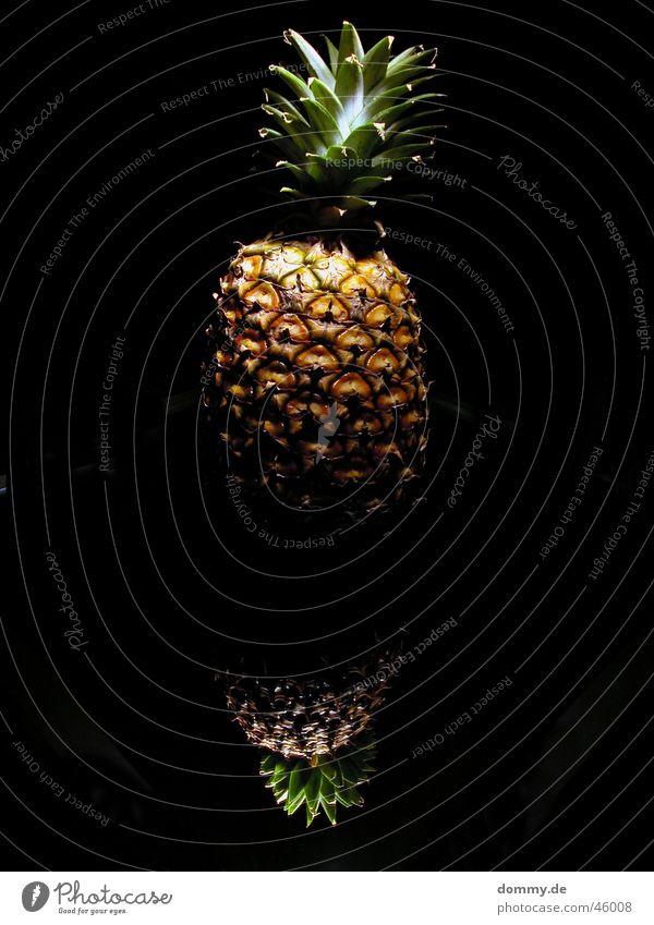 ananas grün schwarz Ernährung gelb dunkel braun Glas Lebensmittel Frucht süß Wachstum Spiegel Wut Naher und Mittlerer Osten Oval