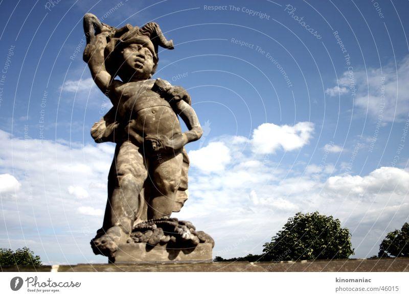 Aua! Sommer Angelrute Skulptur Engel snake Schlange sculpture