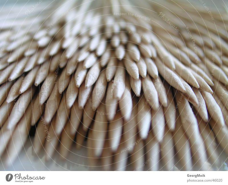 toothpicks Holz braun gefährlich mehrere bedrohlich Spitze viele Angriff Zahnstocher
