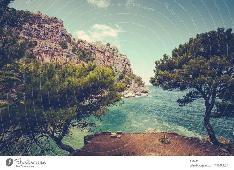Was will man mehr Natur Ferien & Urlaub & Reisen Sommer Baum Meer Landschaft Strand Berge u. Gebirge Küste Felsen Idylle Erde Aussicht fantastisch Bucht Spanien