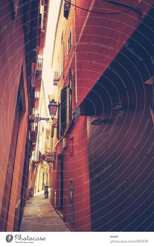 Flair Städtereise Häusliches Leben Wärme Stadt Hauptstadt Altstadt Menschenleer Haus Gebäude Architektur Mauer Wand Fassade Balkon Fenster Tür Straße