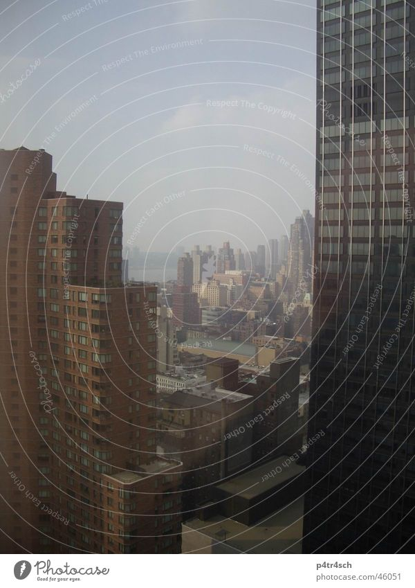 Big city Stadt dunkel Hochhaus New York City