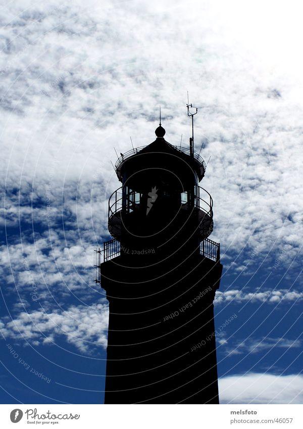 Greifswalder Oie Leuchtturm Wolken Gegenlicht Mecklenburg-Vorpommern Ferien & Urlaub & Reisen greifswalder oie Ostsee Insel