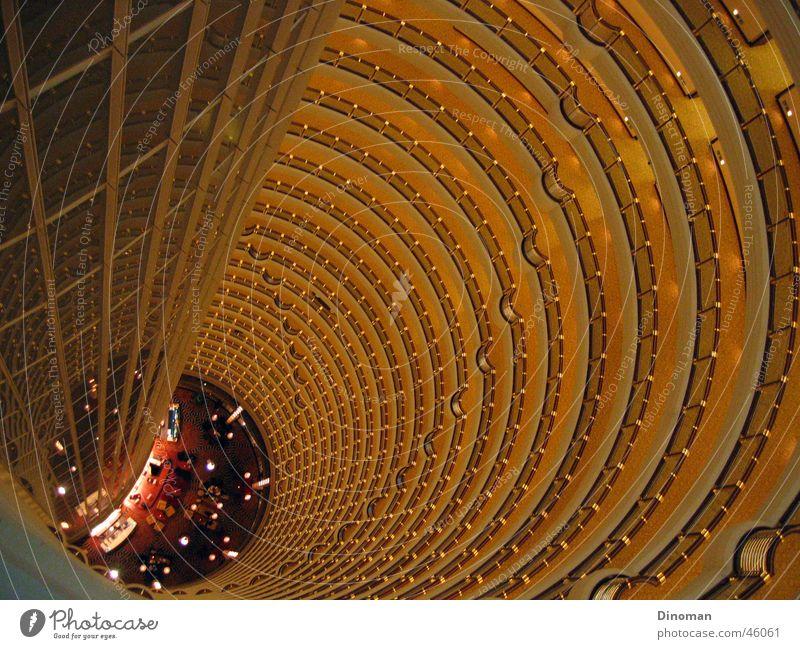 Jin Mao Innenansicht Shanghai China Jin-Mao-Gebäude Hochhaus Grand Hyatt Hotel Etage rund lusus innenansicht hoch gallerie Innenaufnahme