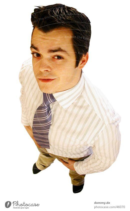 da guggst du was ? Mann weiß Auge lachen Haare & Frisuren Mund Business Nase Freisteller stehen Ohr Hose Hemd Strümpfe Krawatte Management