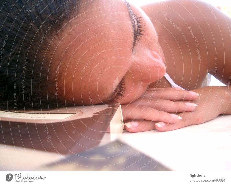 Dreaming Nena Mädchen Sonne Strand ruhig Erholung Sonnenbad Mexiko dunkles Haar
