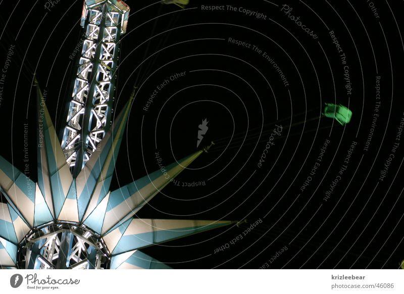praterstern Wien Prater Jahrmarkt Fahrgeschäfte Fairness Nacht Kettenkarussell vienna Stern (Symbol) Starruhm folk festival night carnival ride