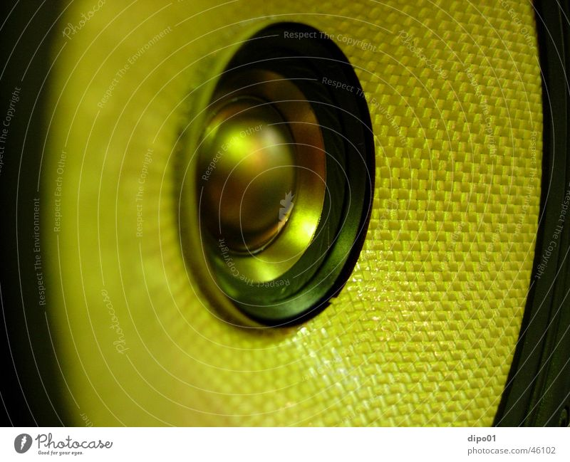 Lautsprecher Makro gelb Makroaufnahme