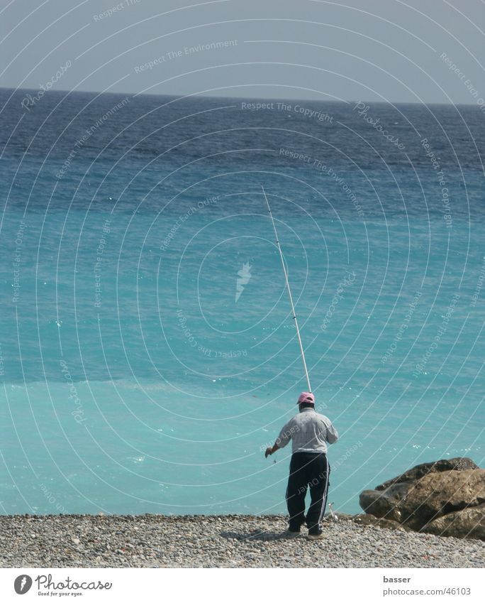 Fischer am Meer Wasser