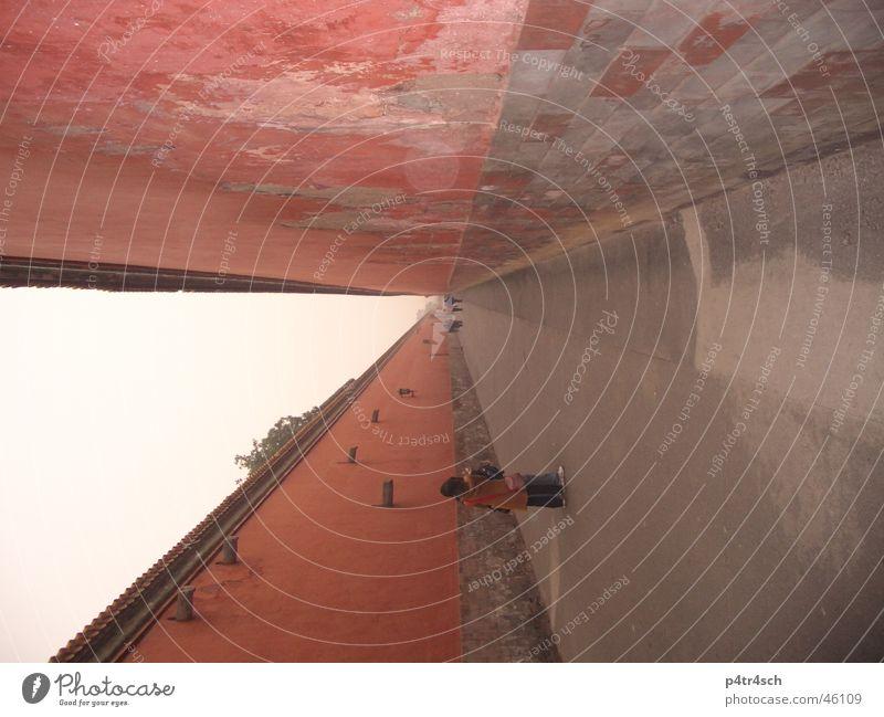 Verbotene Stadt rot Mauer China Peking Stadtmauer