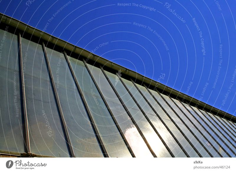Fensterfront Himmel Sonne Industriefotografie