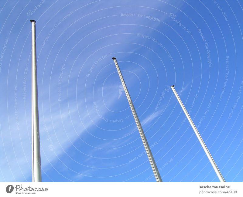 3Master Himmel blau Wolken Fahnenmast