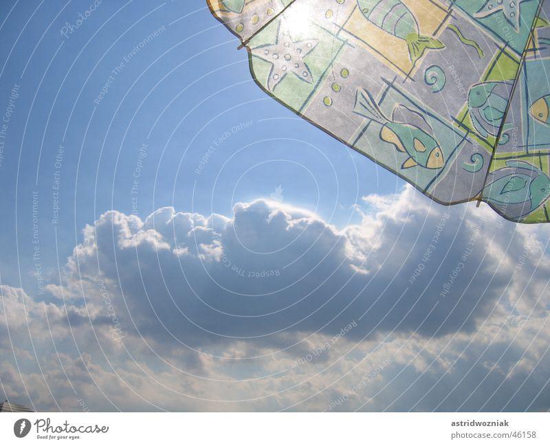 blue sky Himmel blau Sommer Ferien & Urlaub & Reisen Wolken Sonnenschirm