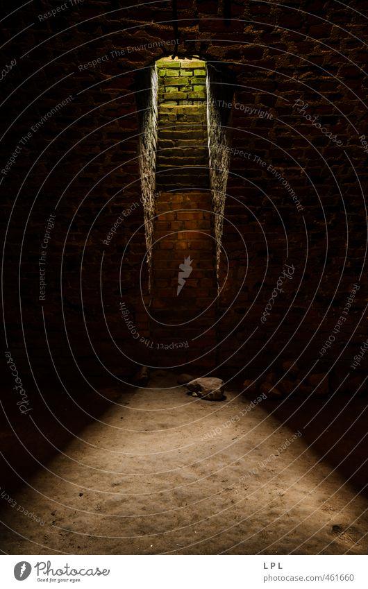 """Alter Keller mit einem Fenster ins """"Grüne"""" Altstadt Mauer Wand authentisch Verfall Vergangenheit Vergänglichkeit Kellerwand Kellerfenster Bodenbelag Erde"""
