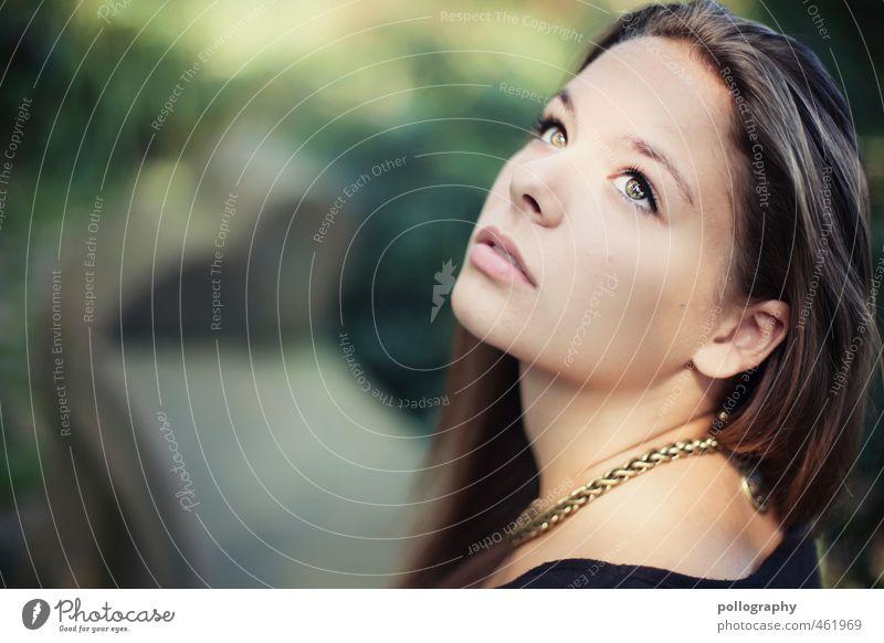 dream away Lifestyle schön Mensch feminin Junge Frau Jugendliche Erwachsene Leben Kopf Gesicht 1 13-18 Jahre Kind 18-30 Jahre Natur Pflanze Sommer