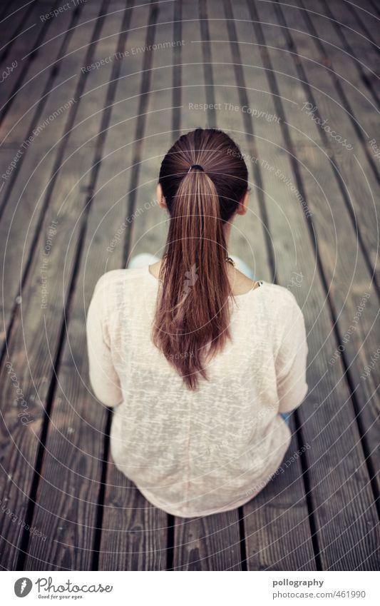 Franci (1) Mensch Frau Kind Jugendliche Sommer Einsamkeit ruhig Junge Frau Erwachsene 18-30 Jahre Leben feminin Haare & Frisuren Holz Körper Kraft