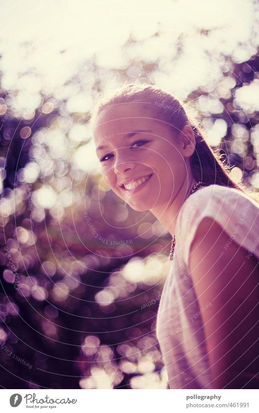 thx for the smile II Mensch Frau Kind Jugendliche schön Sommer Baum Junge Frau Freude Erwachsene 18-30 Jahre Leben feminin Gefühle lachen Glück