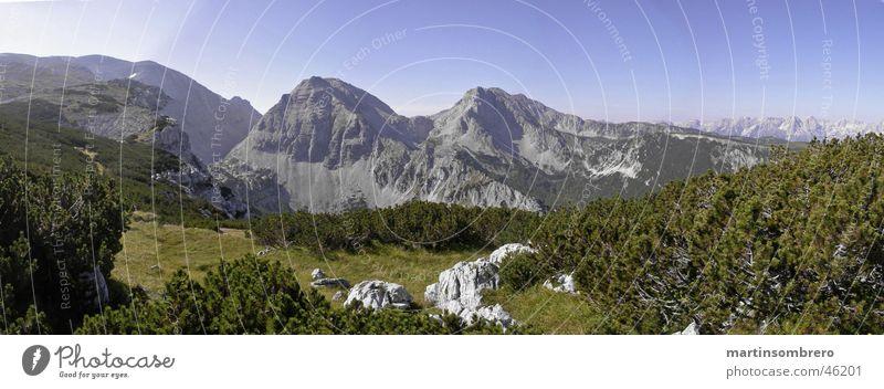 Alpenkitsch Horizont Panorama (Aussicht) wandern Berge u. Gebirge Natur Himmel Felsen groß Panorama (Bildformat)