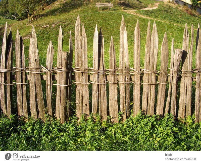 Alter Zaun Holz Holzbrett netzartig