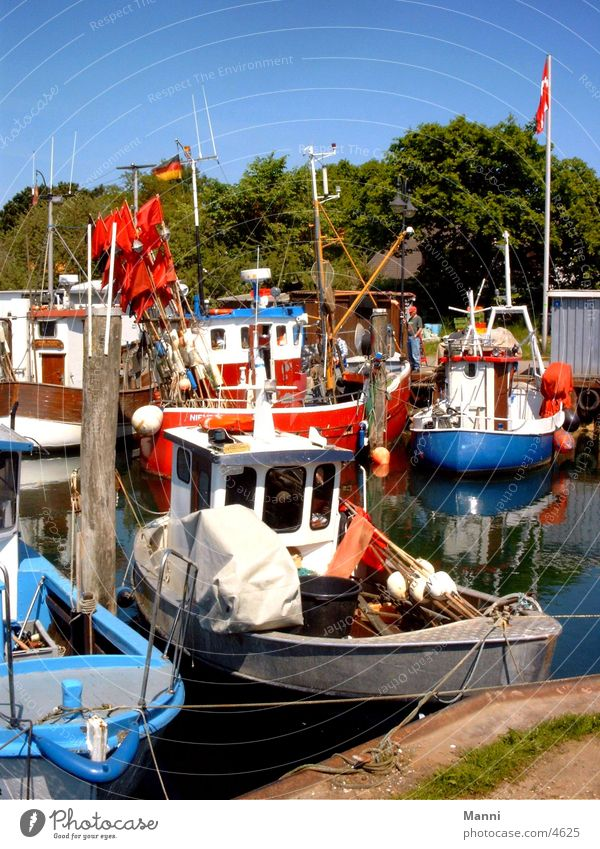 Bunter Hafen Wasser Meer Farbe Wasserfahrzeug Schifffahrt