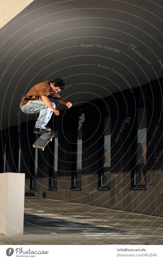 Flip it Mensch Jugendliche Mann Junger Mann Erwachsene 18-30 Jahre Sport springen maskulin Freizeit & Hobby Aktion Lifestyle Coolness Skateboarding