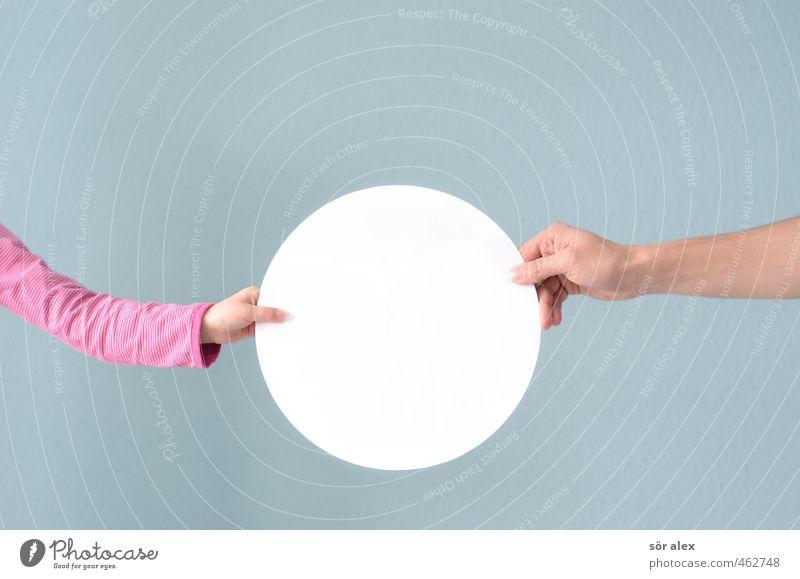 Platz für Ideen Mensch Kind Mann Hand Erwachsene Leben Schule Familie & Verwandtschaft Kindheit Erfolg Kreis lernen Bildung Team Zusammenhalt