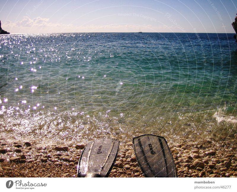 Geschafft! Strand Sommer Ferien & Urlaub & Reisen Meer tauchen Sonne Wasser