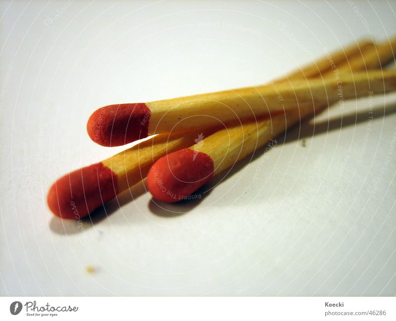 Streichhölzer rot Holz Brand Stock Streichholz anzünden