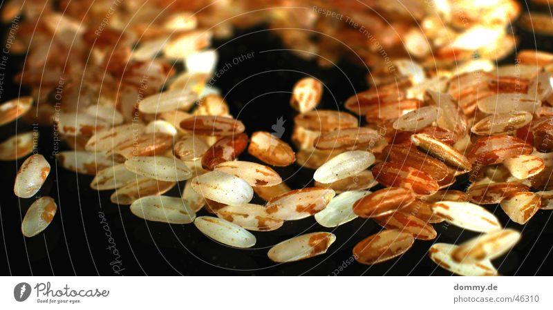 Naturreis weiß schwarz Ernährung braun Glas Lebensmittel Spiegel Reis Oval Wildreis