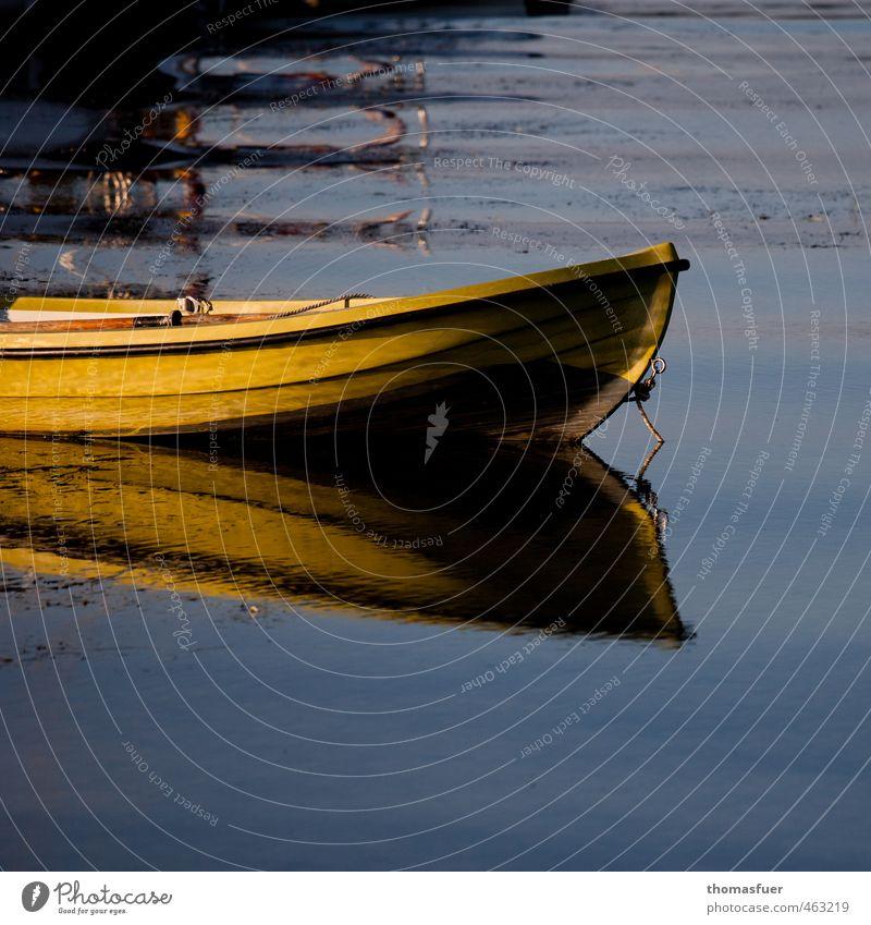 Yellow Submarine blau Wasser Sommer Sonne Meer ruhig gelb Küste träumen Wellen Zufriedenheit Schönes Wetter Hafen Gelassenheit Ostsee Schifffahrt