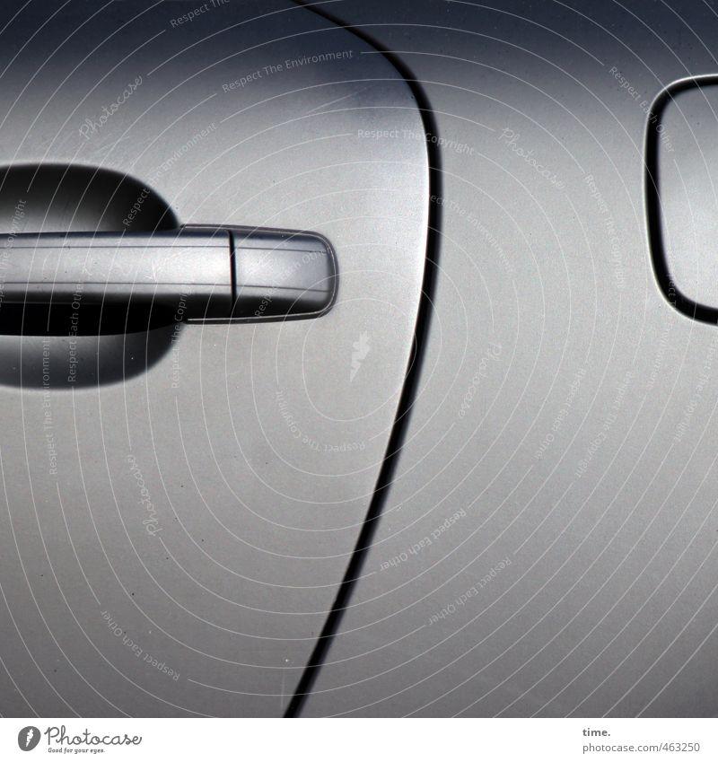 Das Design bestimmt das Bewusstsein Verkehr Verkehrsmittel Fahrzeug PKW autotür Griff Tankdeckel Verpackung Oberfläche dünn silber Handel modern Qualität