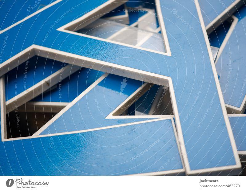 A - Z Lager von Buchstaben Design Kultur Sammlung Holz Schriftzeichen Streifen liegen eckig einzigartig nah Originalität retro blau Einigkeit authentisch