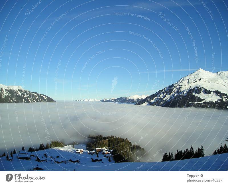 über den Wolken... Himmel blau Ferien & Urlaub & Reisen Schnee Berge u. Gebirge Freiheit Alpen Österreich