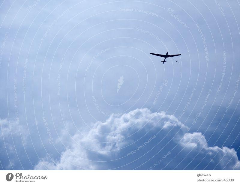 Blue Sky Wolken groß Segelflugzeug Flugzeug Freizeit & Hobby blau Luftverkehr Himmel