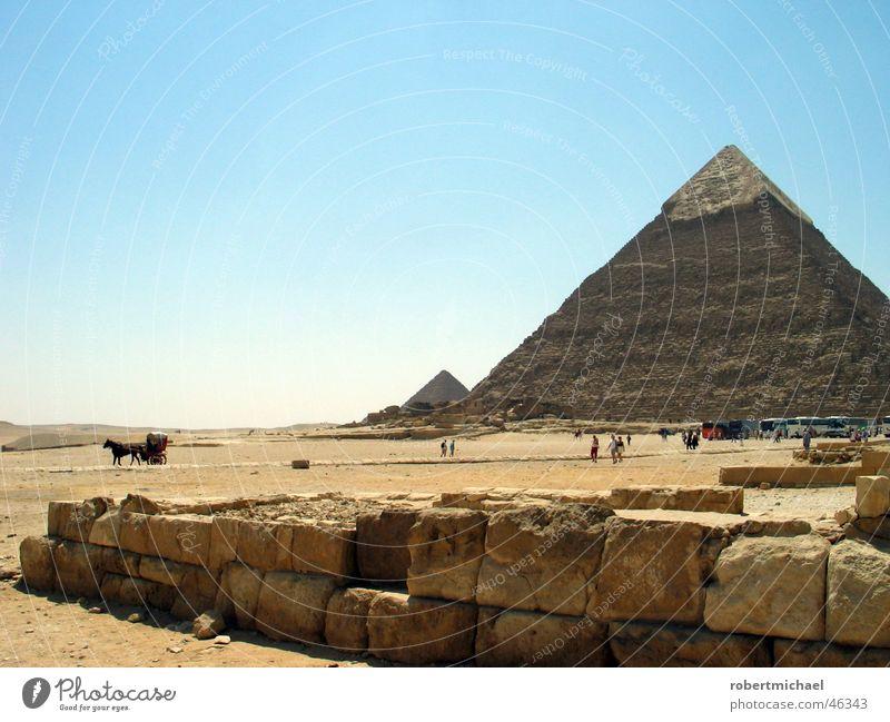 pyramide Himmel alt Sonne Ferien & Urlaub & Reisen Wand Landschaft Sand Wärme Stein Gebäude Mauer hoch Nase Treppe 3