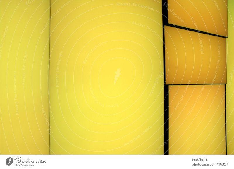 kein titel gelb Farbe Wand Farbwand Leuchtwand