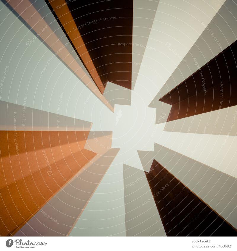 Diagonale im Quadrat Kunst Metall Linie drehen ästhetisch außergewöhnlich eckig frei gut modern komplex Surrealismus Symmetrie Doppelbelichtung Rahmen Schemata